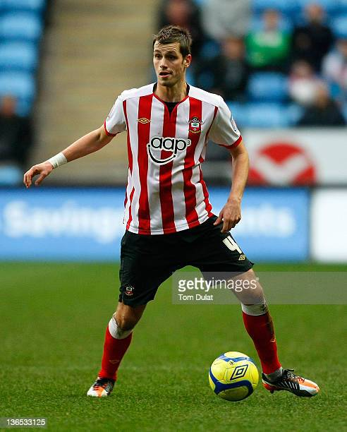 Morgan Schneiderlin of Southampton in action during the FA Cup 3rd round match between Coventry City and Southampton at the Ricoh Arena on January 07...