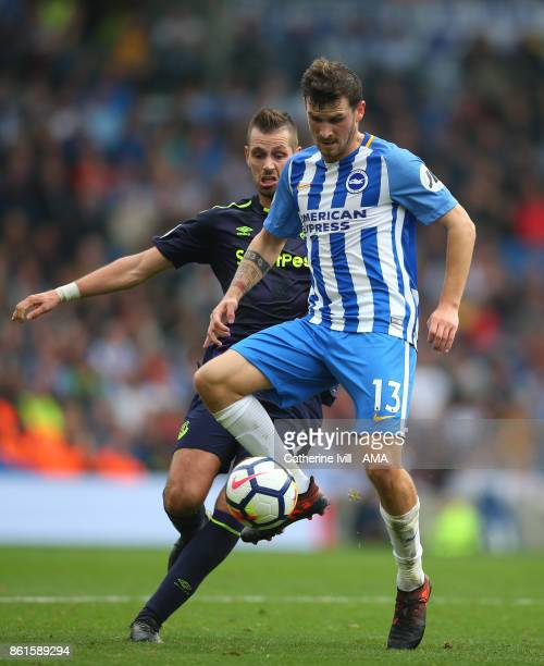 Morgan Schnneiderlin of Everton and Pascal Gross of Brighton and Hove Albion during the Premier League match between Brighton and Hove Albion and...