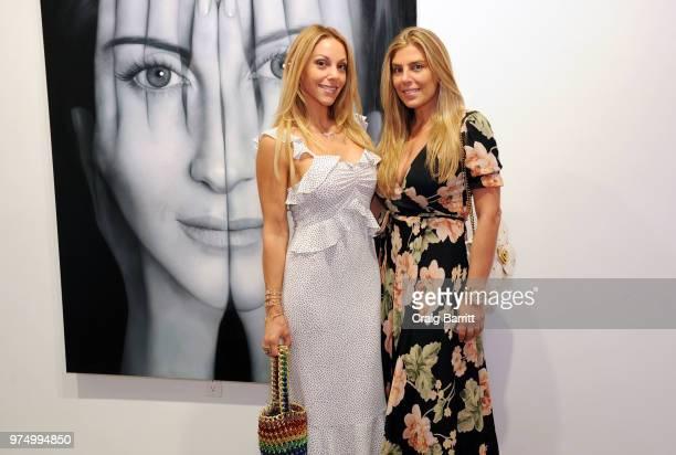Morgan Shara and Claudine De Niro attend the Tigran Tsitoghdzyan 'Uncanny' show at Allouche Gallery on June 14 2018 in New York City