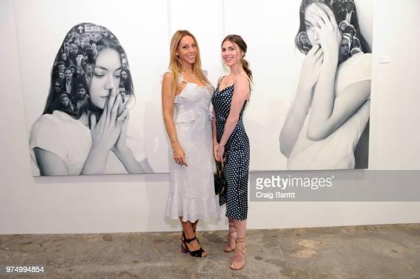 Morgan Shara and Mia Tonelli attend the Tigran Tsitoghdzyan 'Uncanny' show at Allouche Gallery on June 14 2018 in New York City