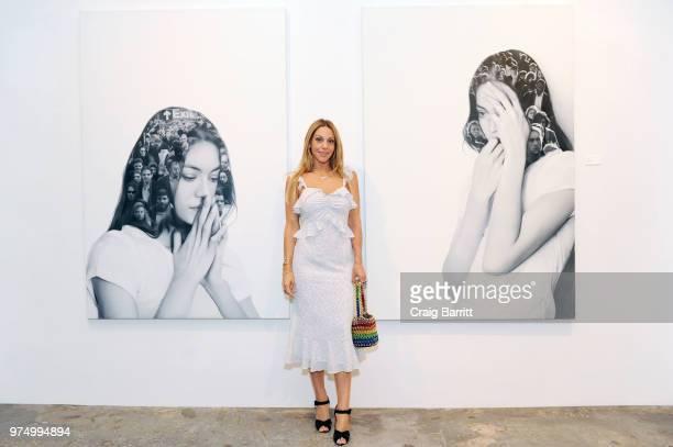 Morgan Shara attends the Tigran Tsitoghdzyan Uncanny show at Allouche Gallery on June 14 2018 in New York City