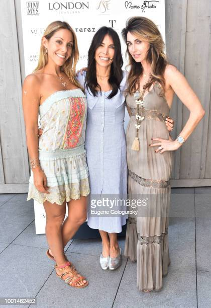 Morgan Shara Tonya Zuckerbrot and Katerina Frangenberg attend the Hamptons Magazine London Jewelers Host A Luxury Shopping Afternoon at Topping Rose...
