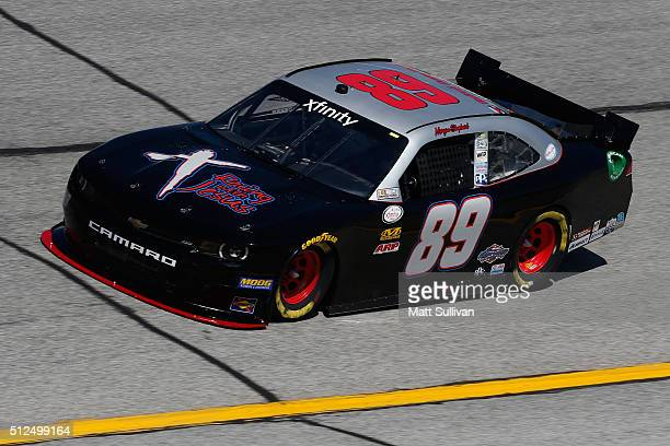 Morgan Shepherd driver of the Chevrolet practices for the NASCAR XFINITY Series Heads Up Georgia 250 at Atlanta Motor Speedway on February 26 2016 in...