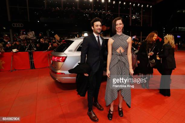 Morgan Spector and Rebecca Hall arrive the 'The Dinner' premiere during the 67th Berlinale International Film Festival Berlin at Berlinale Palace on...