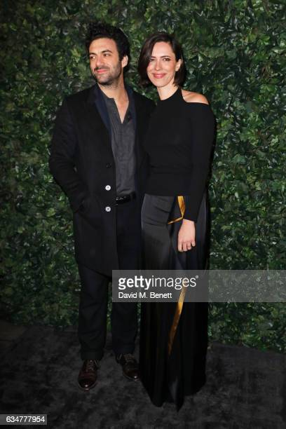 Morgan Spector and Rebecca Hall attend a preBAFTA party hosted by Charles Finch and Chanel at Annabel's on February 11 2017 in London England