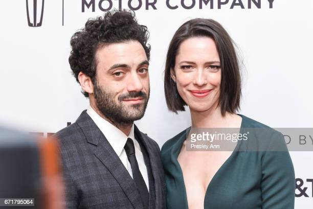 Morgan Spector and Rebecca Hall attend 'Permission' Premiere 2017 Tribeca Film Festival at SVA Theatre 2 on April 22 2017 in New York City
