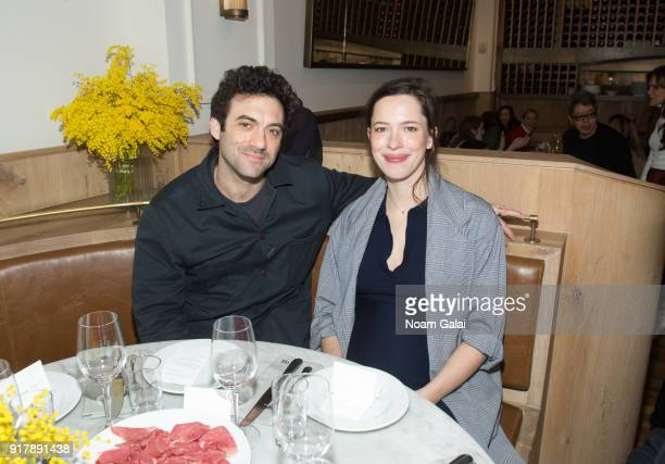 Morgan Spector and Rebecca Hall attend the Gabriela Hearst fashion show during New York Fashion Week on February 13 2018 in New York City
