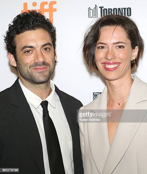 Morgan Spector and Rebecca Hall attend the 'The Bleeder' Red Carpet Premiere for the 2016 Toronto International Film Festival Premiere at the...