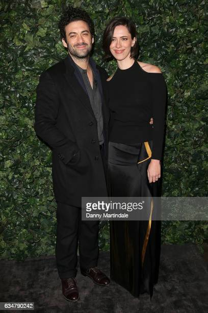 Morgan Spector and Rebecca Hall attends a pre BAFTA party hosted by Charles Finch and Chanel at Annabel's on February 11 2017 in London England