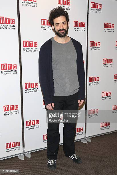Morgan Spector attends Incognito Cast Meet Greet at Manhattan Theatre Club Rehearsal Studios on April 8 2016 in New York City