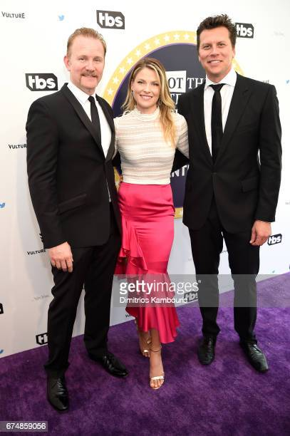 Morgan Spurlock Ali Larter and Hayes MacArthur attend Full Frontal With Samantha Bee's Not The White House Correspondents' Dinner at DAR Constitution...