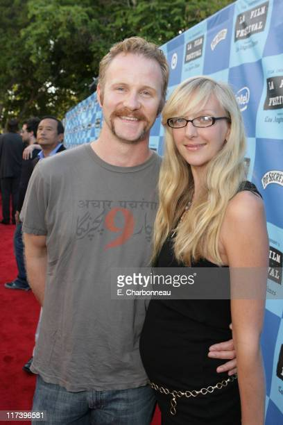 Morgan Spurlock and Alex Jamieson during Fox Searchlight Pictures Premiere of Little Miss Sunshine at the Closing Night Celebration of The Los...