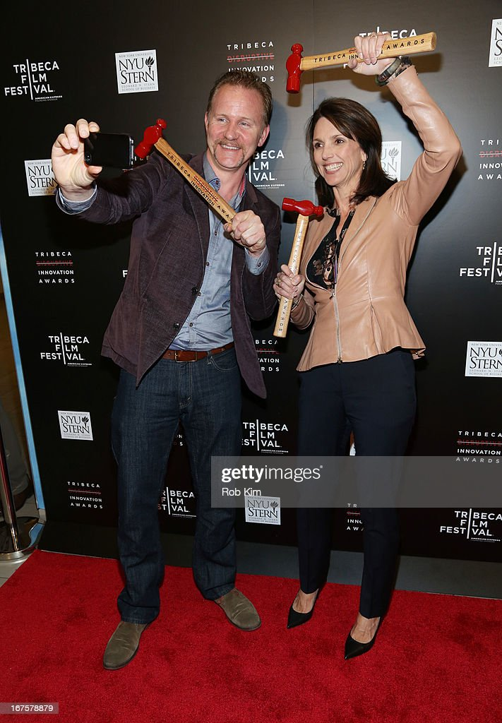Morgan Spurlock and Beth Comstock attend Tribeca Disruptive Innovation Awards on April 26, 2013 in New York City.