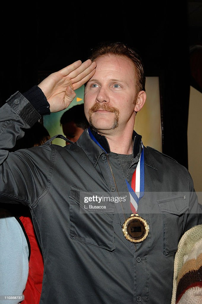 Morgan Spurlock at the Hollywood Life House on January 21, 2008 in Park City, Utah.