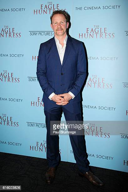 Morgan Spurlock attends a screening of 'The Eagle Huntress' hosted by Sony Pictures Classics and The Cinema Society at The Landmark Sunshine Theater...