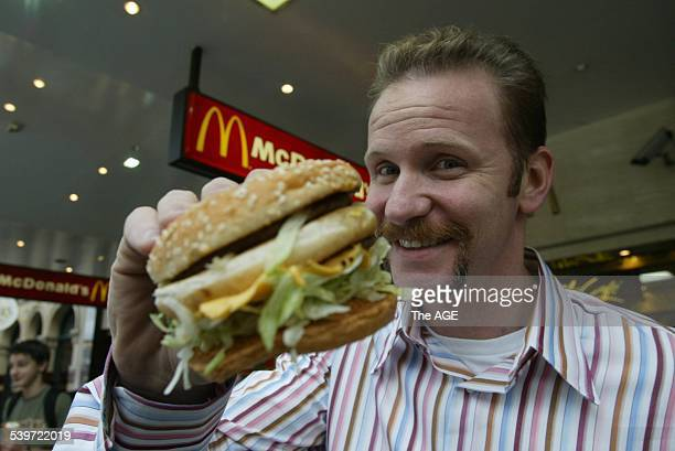 Morgan Spurlock Director of 'Super Size Me' 26 May 2004 THE AGE Picture by ANDREW DE LA RUE