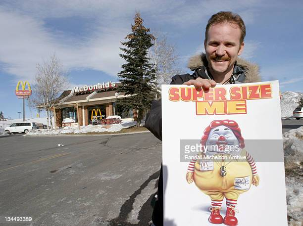 Morgan Spurlock director of 'Super Size Me' during 2004 Sundance Film Festival 'Supersize Me' people portraits in Park City Utah United States