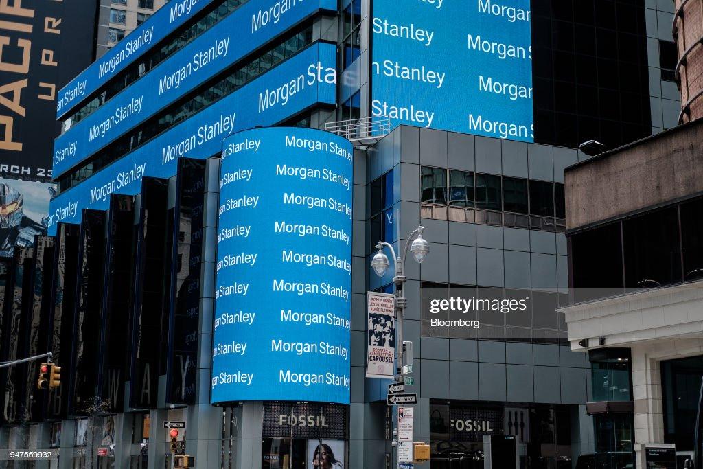 Morgan Stanley Headquarters Ahead Of Earnings Figures : News Photo