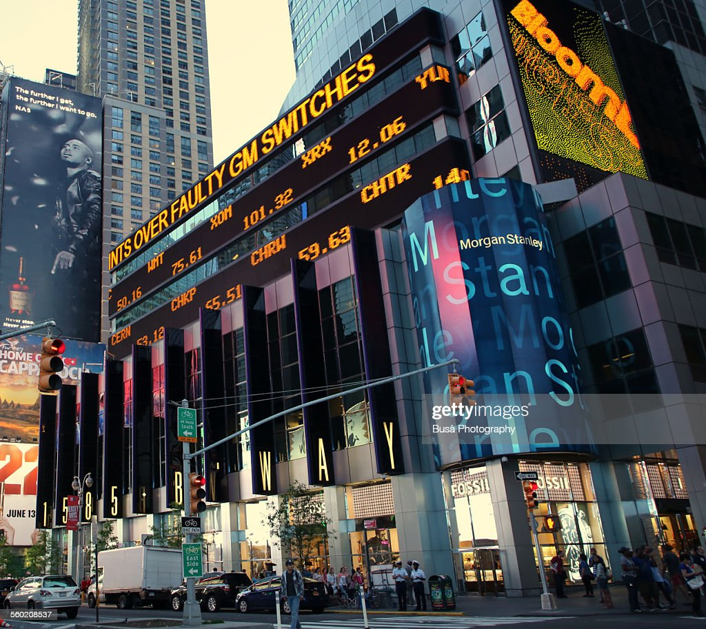 Morgan Stanley Headquarters In Times Square Nyc Stock Photo