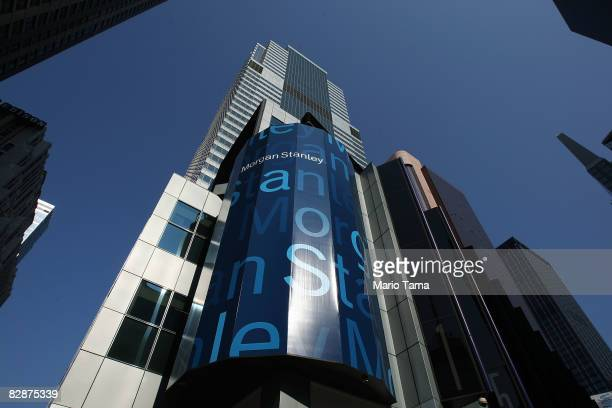 Morgan Stanley headquarters is seen in Times Square September 18 2008 in New York City Morgan Stanley and Wachovia Corp are reportedly discussing a...