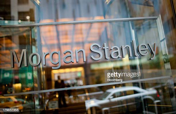 Morgan Stanley signage is displayed outside of the company's headquarters in New York US on Wednesday Oct 19 2011 Morgan Stanley the sixthlargest US...