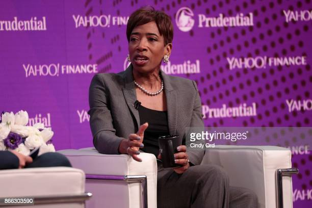 Morgan Stanley Vice Chairman Managing Director Senior Client Advisor Carla Harris speaks onstage at the Yahoo Finance All Markets Summit on October...