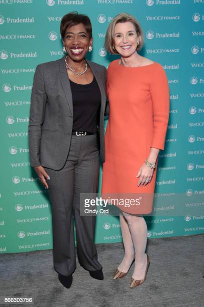 Morgan Stanley Vice Chairman Managing Director Senior Client Advisor Carla Harris and Ellevest CEO and CoFounder Sallie Krawcheck attend the Yahoo...