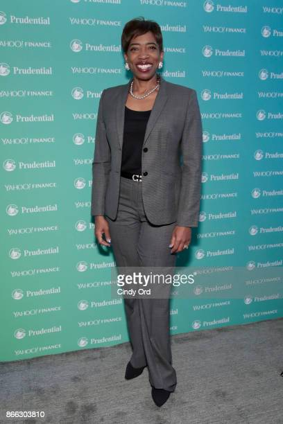 Morgan Stanley Vice Chairman Managing Director Senior Client Advisor Carla Harris attends the Yahoo Finance All Markets Summit on October 25 2017 in...