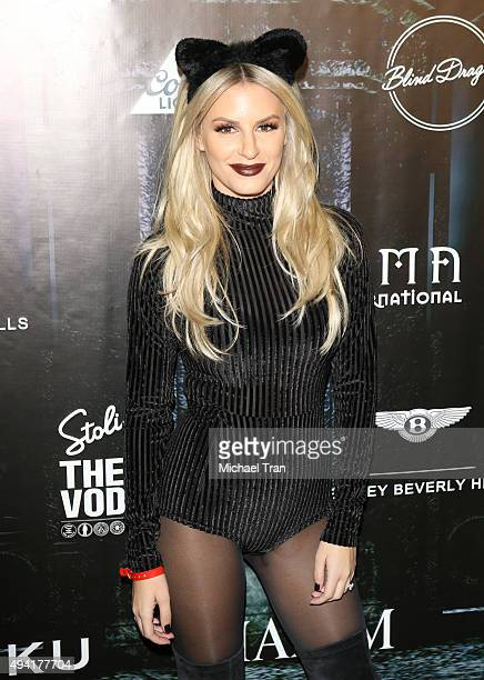 Morgan Stewart arrives at the 2015 MAXIM Magazine's official Halloween Party held on October 24, 2015 in Beverly Hills, California.