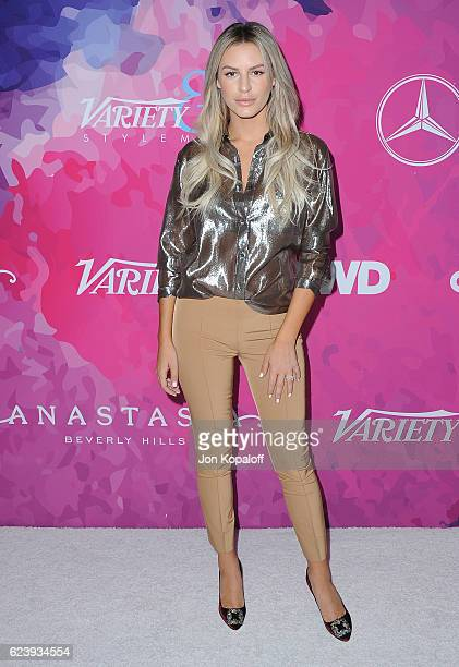 Morgan Stewart arrives at Variety And WWD Host 2nd Annual StyleMakers Awards at Quixote Studios West Hollywood on November 17 2016 in West Hollywood...