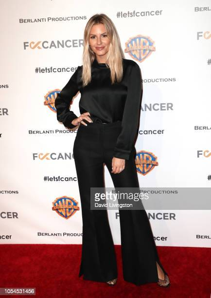 Morgan Stewart attends FCancer's 1st Annual Barbara Berlanti Heroes Gala at Warner Bros Studios on October 13 2018 in Burbank California