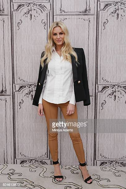 Morgan Stewart discusses her E hit show '#RichKids of Beverly Hills' at AOL Studios in New York on April 26 2016 in New York City