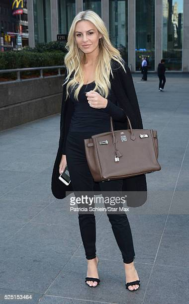 Morgan Stewart is seen on April 27 2016 in New York City