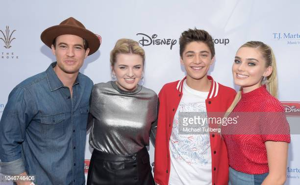 Morgan Tompkins Maddie Poppe Asher Angel and Meg Donnelly attend the 9th annual LA Family Day hosted by the TJ Martell Foundation at The Grove on...