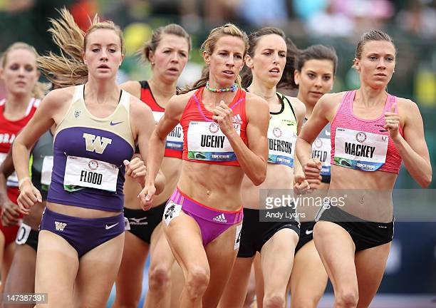 Morgan Uceny competes in the preliminaries of the Women's 1500 Meter on day seven of the 2012 U.S. Olympic Track and Field Team Trials at Hayward...