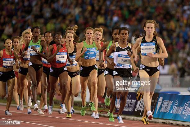 Morgan Uceny from USA competes on the 1500m Women during the IAAF Golden League Memorial Van Damme meet at the King Baudouin Stadium on September 16,...
