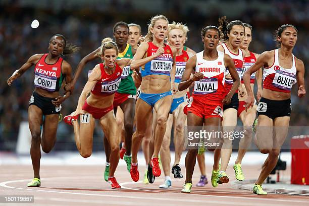 Morgan Uceny of the United States falls during the Women's 1500m Final on Day 14 of the London 2012 Olympic Games at Olympic Stadium on August 10...