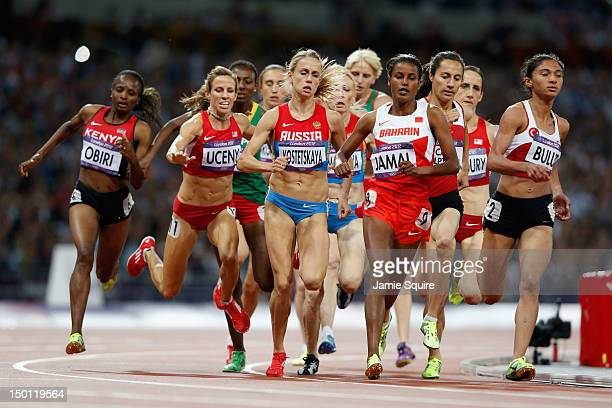 Morgan Uceny of the United States falls during the Women's 1500m Final on Day 14 of the London 2012 Olympic Games at Olympic Stadium on August 10,...