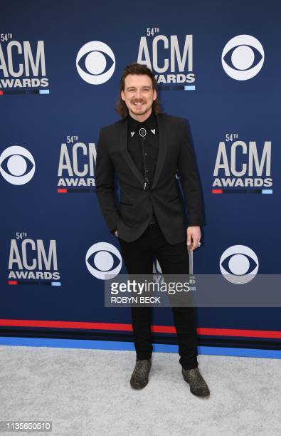 Morgan Wallen arrives for the 54th Academy of Country Music Awards on April 7 2019 in Las Vegas Nevada