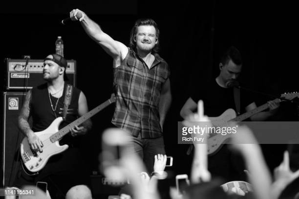 Morgan Wallen performs live during the Daytime Village at the 2019 iHeartCountry Festival Presented by Capital One at the Frank Erwin Center on May 4...