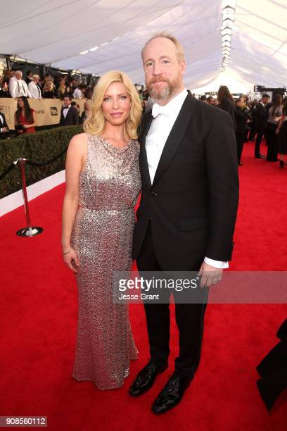 Morgan Walsh and actor Matt Walsh attend the 24th Annual Screen ActorsGuild Awards at The Shrine Auditorium on January 21 2018 in Los Angeles...