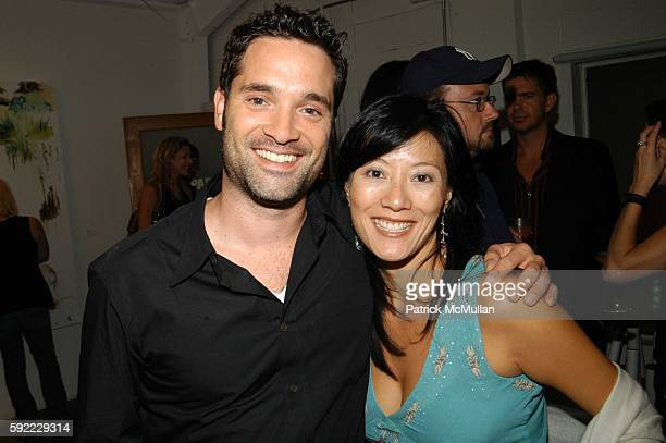 Morgan Wandell and Patti Kim attend Vanity Fair hosts a performance by the Jane Doe's at House of Campari on September 1 2005 in Venice CA