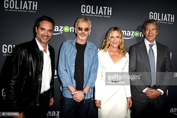 Morgan Wandell Head of Drama Series Amazon Studios actors Billy Bob Thornton Maria Bello and writer/executive producer David E Kelley arrive at the...