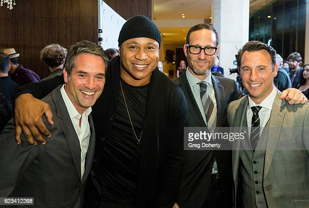 Morgan Wandell LL Cool J Richard Weitz and guest arrive for the Saban Community Clinic's 40th Annual Dinner Gala at The Beverly Hilton Hotel on...