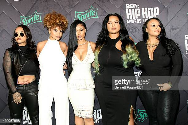 Morgan Westbrooks Crystal Westbrooks India Love Westbrooks Bree Candace Westbrooks and Brooke Westbrooks attend the BET Hip Hop Awards 2015 presented...