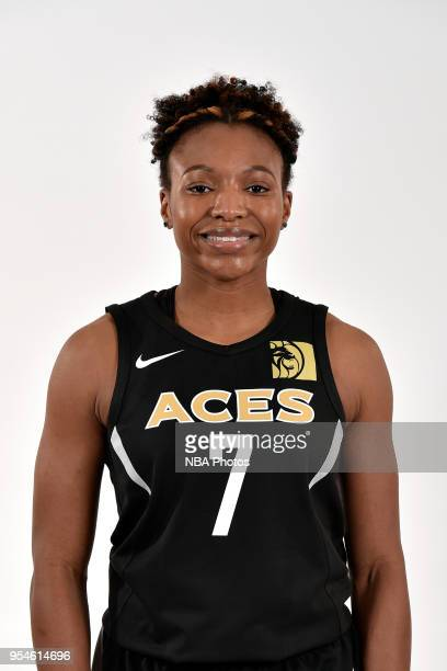 Morgan William of the Las Vegas Aces poses for a head shot at WNBA Media Day at MGM Grand Garden Arena on May 3 2018 in Las Vegas Nevada NOTE TO USER...
