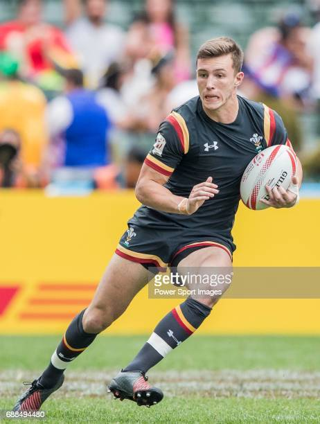 Morgan Williams of Wales in action during their Pool C match between Wales and Japan as part of the HSBC Hong Kong Rugby Sevens 2017 on 08 April 2017...