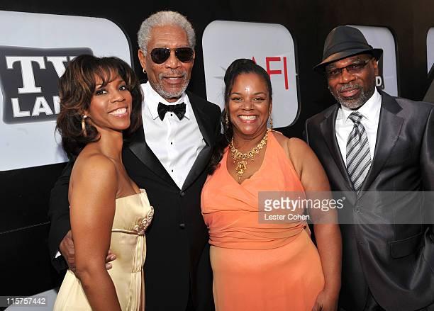 Morgana Freeman, 39th Life Achievement Award recipient Morgan Freeman, Alexis Freeman and Alfonso Freeman arrive at AFI's 39th Annual Achievement...