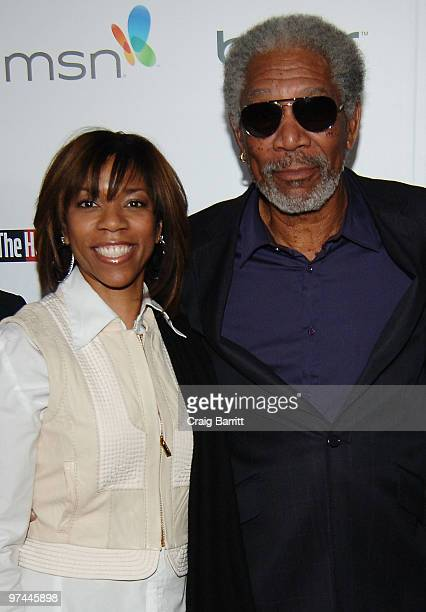 Morgana Freeman and actor Morgan Freeman attend The Hollywood Reporter's Nominees' Night Prelude to Oscar presented by Bing and MSN at the Mayor's...