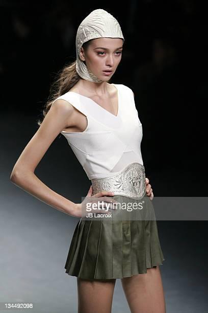 Morgane Dubled wearing Alexander McQueen Spring/Summer 2006